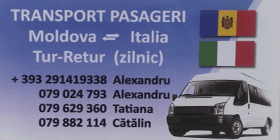 Trasport pasageri moldova italia